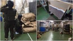 Krajanka tytoniowa wartości ponad 1 mln zł ujawniona w nielegalnej fabryce papierosów.
