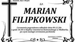 Zmarł Marian Filipkowski. Żył 76 lat.