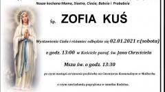 Zmarła Zofia Kuś. Żyła 93 lata.
