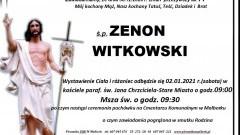 Zmarł Zenon Witkowski. Żył 77 lat.