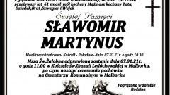 Zmarł Sławomir Martynus. Żył 61 lat.