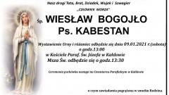 Zmarł Wiesław Bogojło. Żył 67 lat.