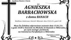 Zmarła Agnieszka Barbachowska. Żyła 47 lat.