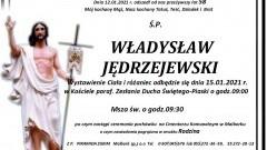 Zmarł Władysław Jędrzejewski. Żył 58 lat.