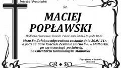 Zmarł Maciej Popławski. Żył 82 lata.
