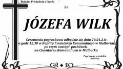 Zmarła Józefa Wilk. Żyła 97 lat.