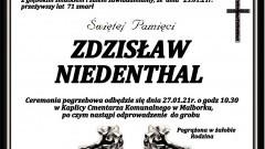 Zmarł Zdzisław Niedenthal. Żył 71 lat.