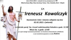 Zmarł Ireneusz Kowalczyk. Żył 72 lata.