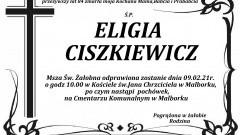 Zmarła Eligia Ciszkiewicz. Żyła 84 lata.