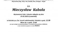Zmarł Mieczysław Kubala. Żył 67 lat.