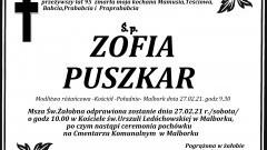 Zmarła Zofia Puszkar. Żyła 95 lat.