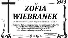 Zmarła Zofia Wiebranek. Żyła 84 lata.