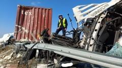 S7. Zderzenie dwóch ciężarówek w Starych Babkach.