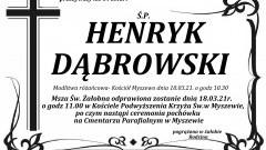 Zmarł Henryk Dąbrowski. Żył 64 lata.
