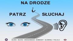 """Nowy Dwór Gdański. Uwaga, kierowcy. Rusza policyjna akcja pn. """"Na drodze – patrz i słuchaj""""."""