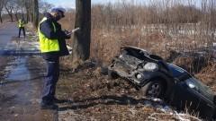 Spowodował wypadek na podwójnym gazie - policyjny raport nowodworskich służb mundurowych.