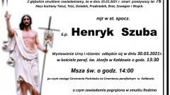 Zmarł Henryk Szuba. Żył 76 lat.