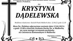 Zmarła Krystyna Dądelewska. Żyła 84 lata.