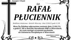 Zmarł Rafał Płuciennik. Żył 36 lat.