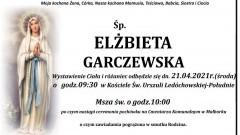 Zmarła Elżbieta Garczewska. Żyła 63 lata.