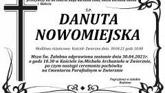 Zmarła Danuta Nowomiejska. Żyła 66 lat.
