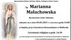 Odeszła Marianna Małachowska. Żyła 93 lata.