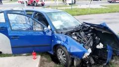 Malbork. Nie ustąpił pierwszeństwa i spowodował wypadek. Kierowcy w szpitalu.