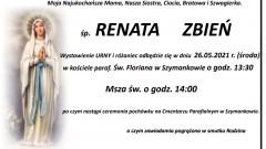 Zmarła Renata Zbień. Żyła 49 lat.