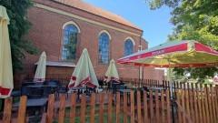 AKTUALIZACJA. Malbork. Ogródek piwny przy kościele - komentarz księdza proboszcza.