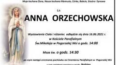 Zmarła Anna Orzechowska. Żyła 44 lata.
