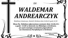 Zmarł Waldemar Andrearczyk. Żył 59 lat.