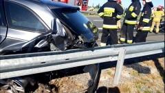S7. Poszkodowany w wypadku w Starych Babkach kierowca trafił do szpitala.