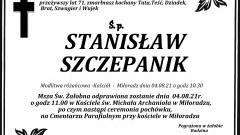 Zmarł Stanisław Szczepanik. Żył 71 lat.