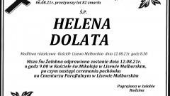 Zmarła Helena Dolata. Żyła 82 lata.