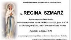 Zmarła Regina Szmarż. Żyła 82 lata.