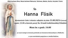 Zmarła Hanna Flisik. Żyła 60 lat.