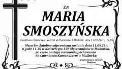 Zmarła Maria Smoszyńska. Żyła 80 lat.