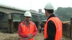 Uwaga! Ruch wahadłowy i zakaz poruszania się pojazdów ciężarowych - wkrótce utrudnienia na budowie II nitki mostu na rzece Nogat w Malborku. Zobacz budowę mostu na żywo