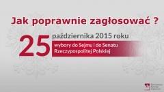 Jak poprawnie zagłosować? Zmiana Czasu. Komunikat Państwowej Komisji Wyborczej dotyczący Wyborów do Sejmu RP i do Senatu RP 2015.