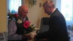 Nowy Dwór Gdanski. 90 urodziny Pana Dominika Geisler 4.11.2015