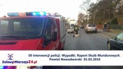 50 interwencji policji. Wypadki. Raport Służb Mundurowych. Powiat Nowodworski – 01.02.2016