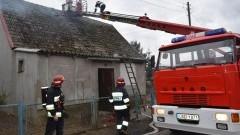Marzęcino. Pożar sadzy w kominie - 09.02.2016
