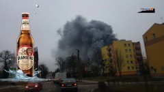 Pożar browaru w Braniewie. Z ogniem walczyło 80 strażaków z całego regionu [wideo][foto] - 05.03.2016