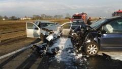 Stare Babki: Zderzenie czterech samochodów na DK7. Śmigłowiec medyczny zabrał poważnie rannego kierowcę – 17.04.2016