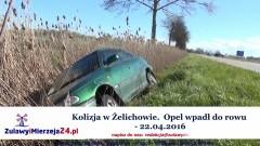 Kolizja w Żelichowie. Opel wpadł do rowu - 22.04.2016