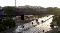 [UWAGA DRASTYCZNE +18] O krok od jeszcze większej tragedii. Samochód z kierowcą w środku stanął w ogniu przy stacji benzynowej na al. Wojska Polskiego w Malborku - 12.05.2016
