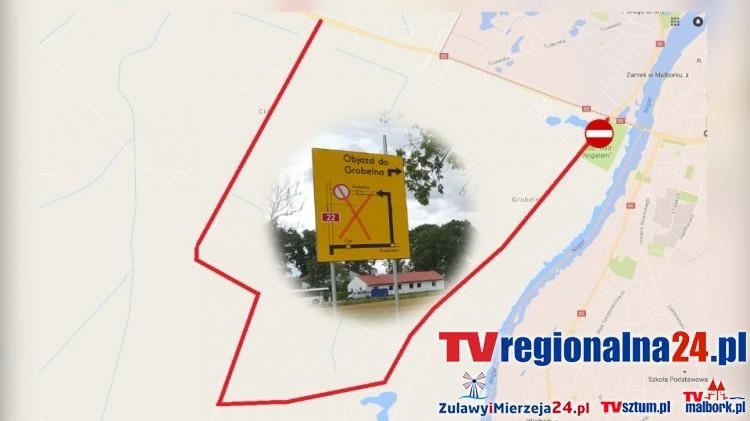 Do Grobelna przez Cisy, zmiana organizacji ruchu także na ul. Wałowej w Malborku. Zobacz plany drogowców na najbliższe dni – 16.08.2016