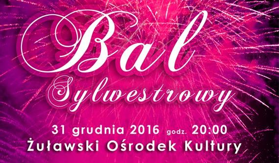 Nowy Dwór Gd. Zaproszenie na Bal Sylwestrowy do Żuławskiego Ośrodka Kultury - 31.12.2016