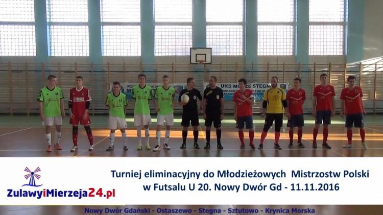 Turniej eliminacyjny do Młodzieżowych Mistrzostw Polski w Futsalu U 20 – 11.11.2016