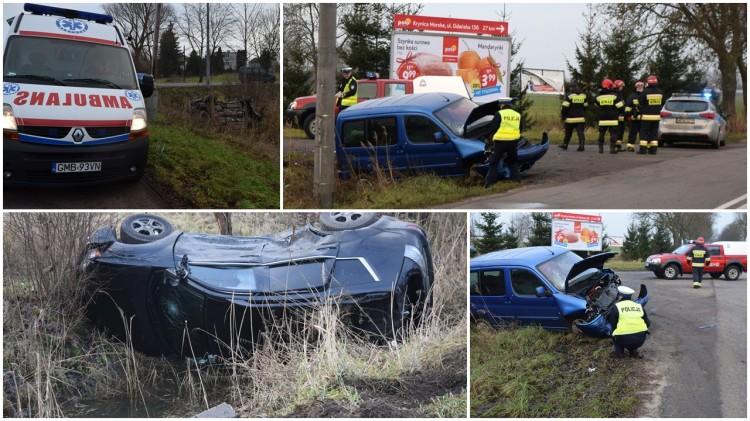 Rybina. Zderzenie dwóch samochodów na krzyżówce – 21.12.2016